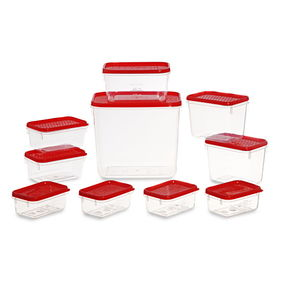 Polka Container Set of 10,  red