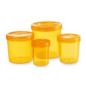 Iris Container 700-702-704-706 (3330Ml) (4Pc Set),  orange, 3330 ml