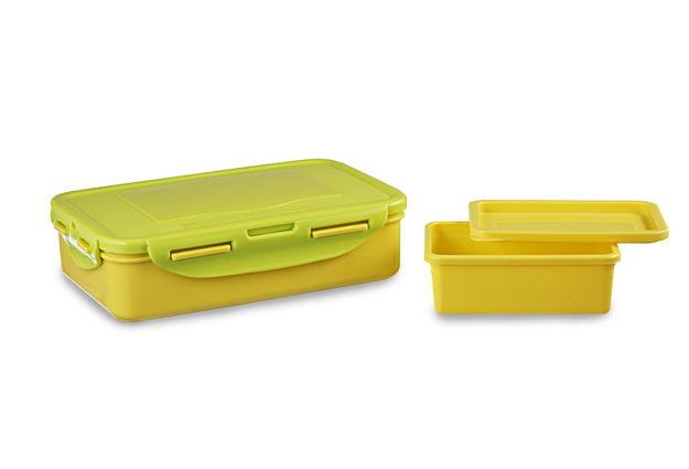 Smart Lunch Set, 800Ml & 200Ml, Set Of 2, Multicolour,  green/yellow