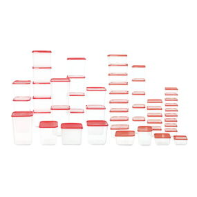 Polka Containers Set Of 52,  red