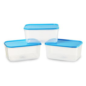 Polka Container Set, Set Of 3, Green,  blue