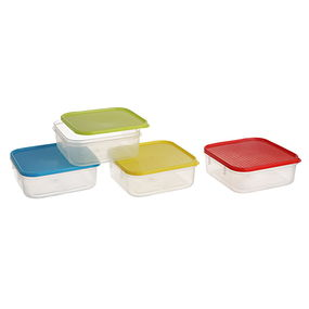 Polka Container Set, 500Ml, Set Of 4, multi color