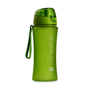 Cresta On The Go Soft Touch Unbreakable PC Water Bottle, 480 ml,  green