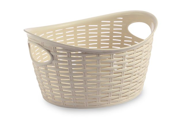 Cresta Oval Basket (9 Ltr), cream