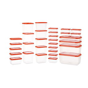 Polka Plastic Container Set, 31-Pieces,  red