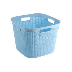 Cresta Knit Square Basket,  blue, 41 ltr
