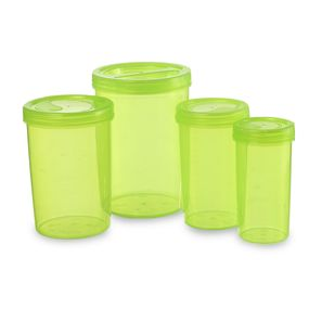 Iris Container 701-703-705-707 (4700Ml) (4Pc Set), 4700 ml,  green