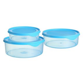Dura Fresh Container Set, Set of 3, ( 1000 ml - 2000ml -3000ml), 6 ltr,  blue