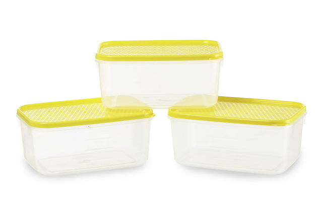 Polka Container Set, Set Of 3-,  red
