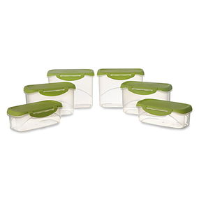 Delite Container Set, 6-Pieces, Green,  green