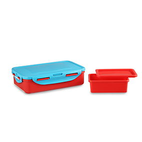 Smart Lunch Set, 800Ml & 200Ml, Set Of 2, Multicolour,  red/blue
