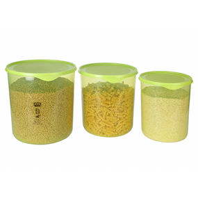Dura Fresh Container Set, Set of 3, ( 5000 ml - 7500ml -10000ml), 22.5 ltr,  green