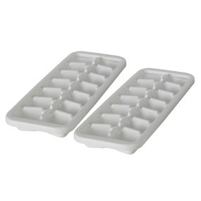 Cool Ice Tray Set, Set of 2,  white