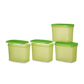 Sleek Container Set, Set Of 4, Red,  green