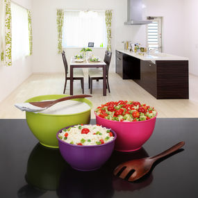 Classic Mixing Bowl Set, 7 Litre, 3-Pieces, multi color