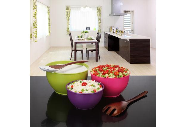 Classic Mixing Bowl Set, 7 Litre, 3-Pieces, multi color