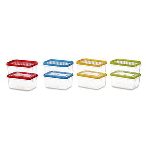 Polka Container Set of 8, 250 ml, multi color