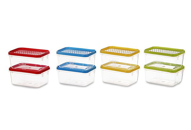 Polka Container Set, 250Ml, Set Of 8, multi color