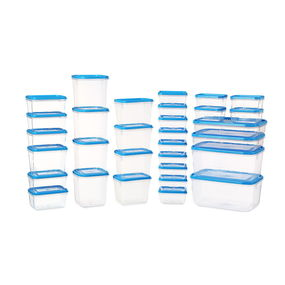 Polka Plastic Container Set, 31-Pieces, Green,  blue