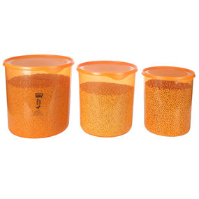 Dura Fresh Container Set, Set of 3, ( 5000 ml - 7500ml -10000ml), 22.5 ltr,  orange