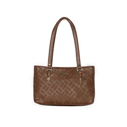 ESBEDA Embossed Textured Handbag For Women,  brown
