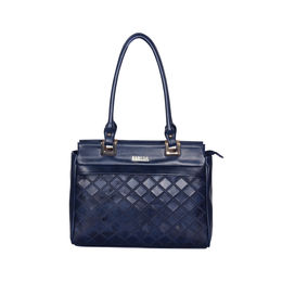 ESBEDA Solid Pattern Textured Handbag For Women,  blue