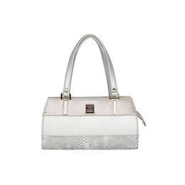 ESBEDA Solid Pattern Handbag For Women,  silver