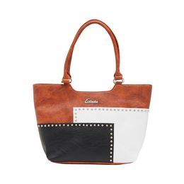 ESBEDA HANDBAG SH17062017,  tan-black-white