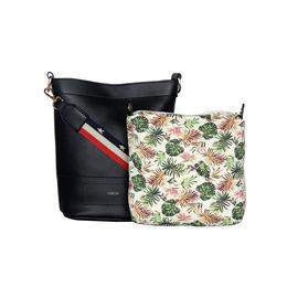 ESBEDA Magnet Closure Floral Pouch Handbag For Women,  black