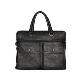 ESBEDA Solid pattern Peprish Laptop Bag,  black
