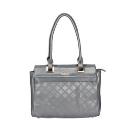 ESBEDA Solid Pattern Textured Handbag For Women,  grey