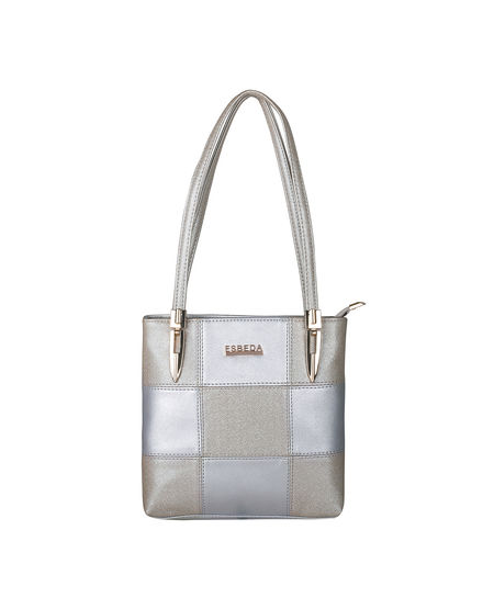 ESBEDA Medium Size Chunky Glitter Handbag For Womens-1005682,  silver
