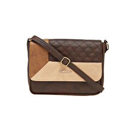ESBEDA LADIES SLING BAG AZ10082017,  d brown-beige-tan