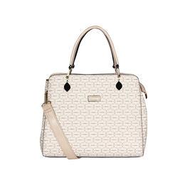 ESBEDA Printed Pattern Signature Logo handbag For Women,  beige
