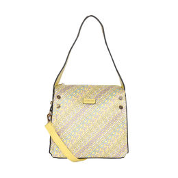 ESBEDA Printed Logo font handbag For Women,  yellow