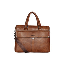 ESBEDA Solid pattern Grain Laptop Bag for Mens and women,  tan