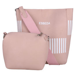 ESBEDA Solid Pattern Pastel Handbag with Pouch -1005021,  cream