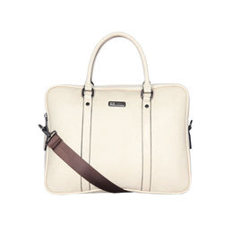 ESBEDA Solid Pattern Paperish Laptop Bag,  beige