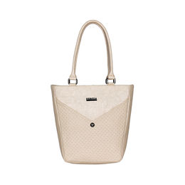 ESBEDA Solid Pattern Glitter Emboss Hand bag For Women,  cream