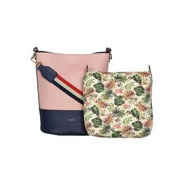 ESBEDA Magnet Closure Floral Pouch Handbag For Women,  pink