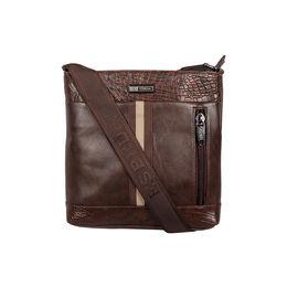 ESBEDA Mediums Size Croco Stripe Slingbag For Mens And Women.,  brown