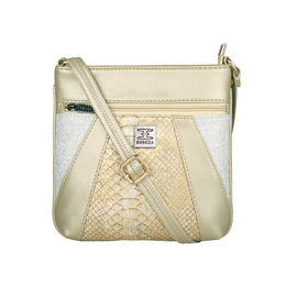 ESBEDA Medium Size Damask Slingbag For Womens-A00100042-42,  gold
