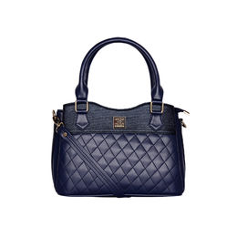 ESBEDA Quilted Pattern Handbag For Women,  blue