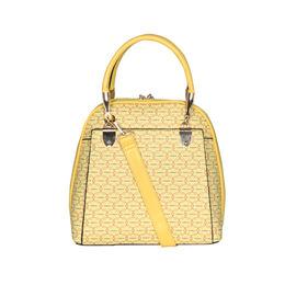 ESBEDA Printed Pattern Signature Logo handbag For Women,  yellow