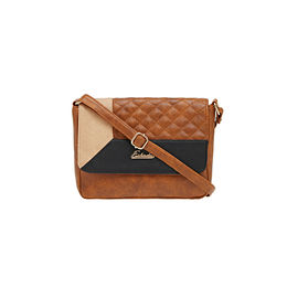 ESBEDA LADIES SLING BAG AZ10082017,  tan-black-beige