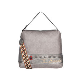 ESBEDA Emboss Pattern Gypsy Hobo bag For Women,  grey