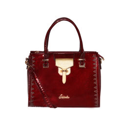 ESBEDA Solid Pattern stud sparkle Handbag For Womens,  maroon