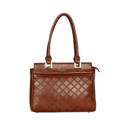 ESBEDA Solid Pattern Textured Handbag For Women,  tan