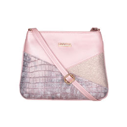 ESBEDA Medium Size Chunky Glitter Slingbag For Womens-A00100042-36,  pink