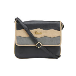 ESBEDA SLING BAG AZ17062017,  black-beige-grey